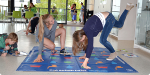 Horniman Museum 2015 – Some rather acrobatic teenagers learning about water saving